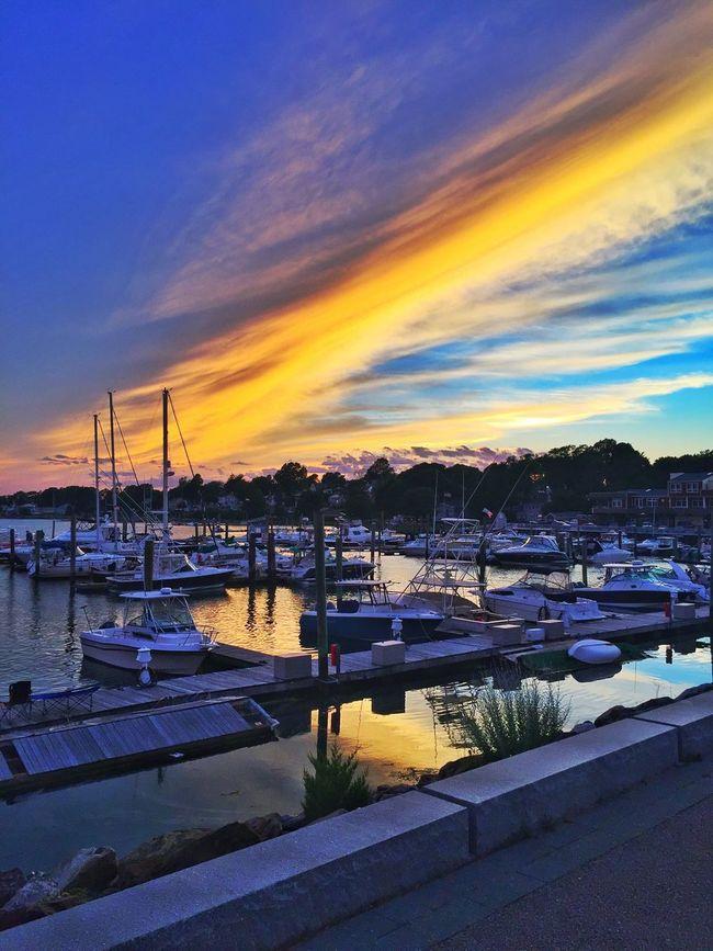 Yellow streak Skies Clouds And Sky Best Of EyeEm Best EyeEm Shot AMPt_community Summer2016 Panoramic Photography NEM Mood Boating Boats Marina