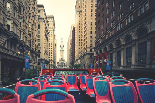 Philadelphia Philly Philadelphia City Hall Philadelphia Downtown Bus Double Decker Bus View From Above View From The Top Urban Urban Landscape Urban Exploration City Life City Street City Scape Street Photography On The Way Fine Art Photography