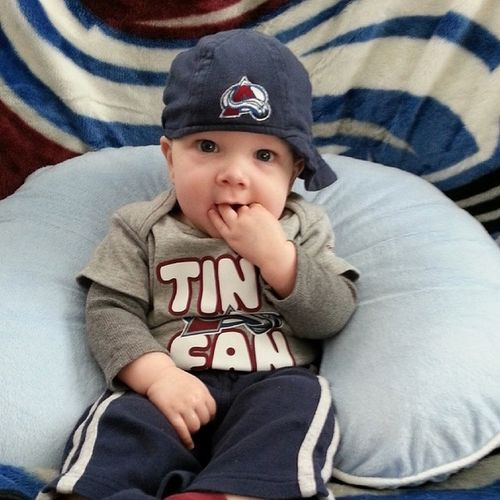 Casey could just taste a Game 1 win! GoAvsGo WhyNotUs