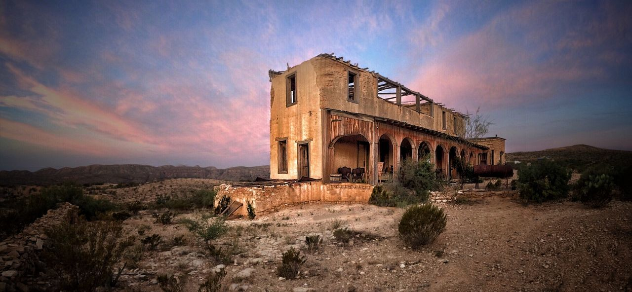 Texas Desert Ghost Town Terlingua Abandoned Buildings Sunrise Desert Sunrise Perry Mansion EyeEm Best Shots Fine Art Photography Landscape