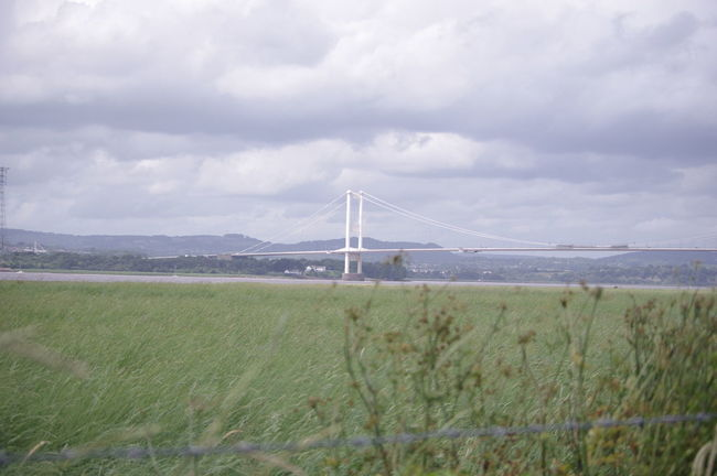 Old Severn Crossing Architecture Bridge Grass For Ground Landscape Transportation Relaxing Taking Photos