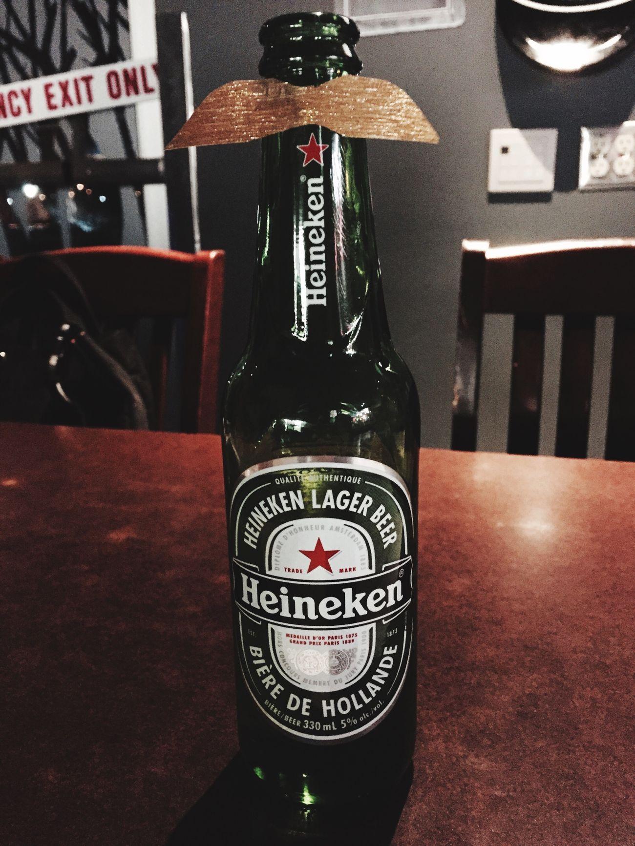 Beer Heineken Mustache