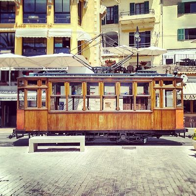 The 101 years old Sóller tram. #PortDeSóller #Mallorca #Spain SPAIN Mallorca Portdesóller