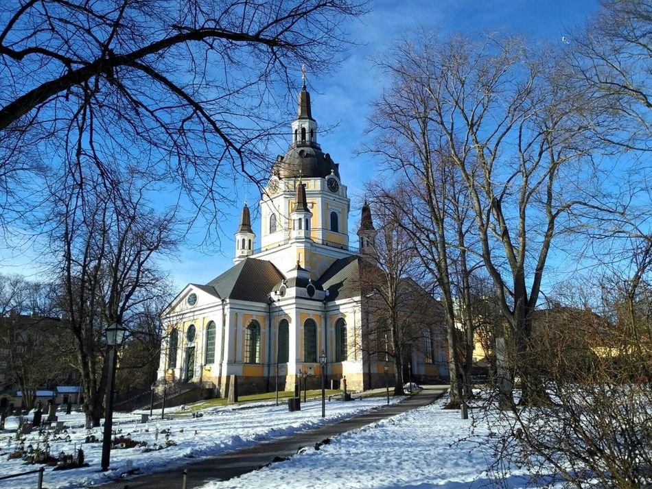 Beautiful stock photos of sweden, Architecture, Bare Tree, Blue, Branch