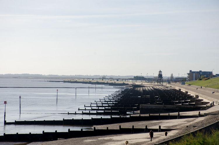 Dovercourt Beach Essx Essex Winter Beach Breakwaters Dovercourt Empty England No People Resort Seafront Uk Water Waterfront