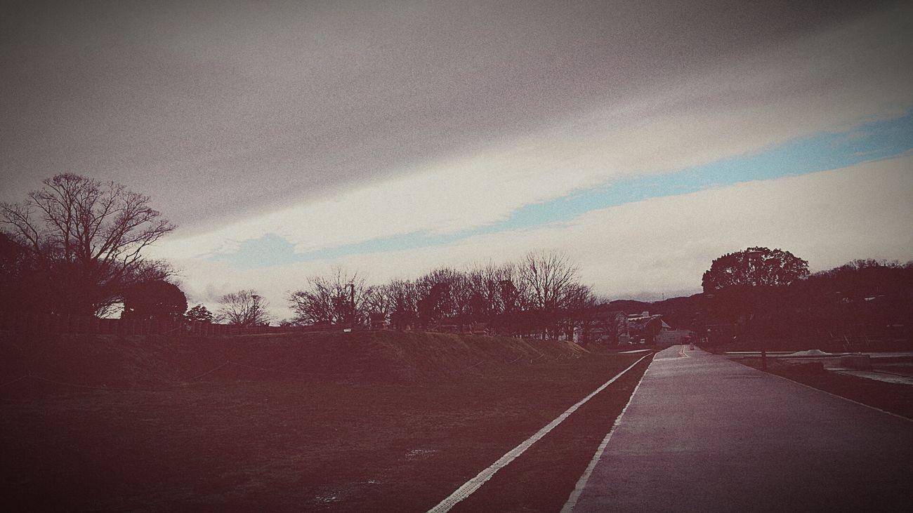 今から1時間程前の雨上がりの空