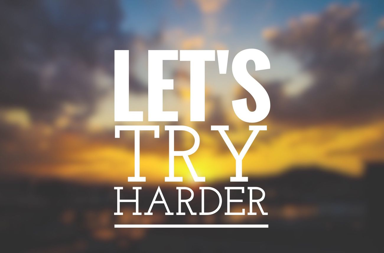 Let's try harder! ~dominogirl Dominogirl Let's Try Harder