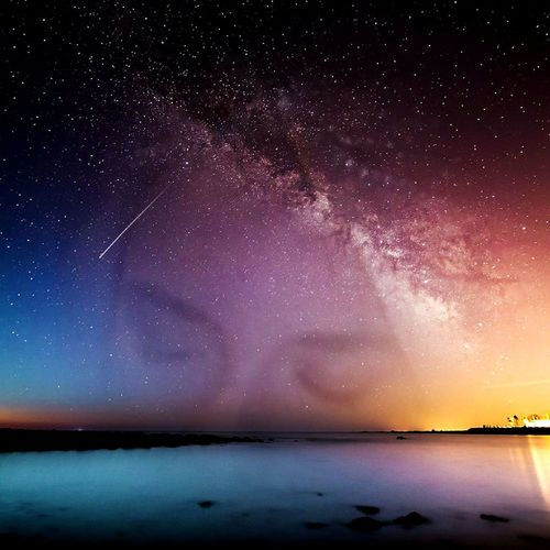 Night Star - Space Sky Water Blue Galaxy Sea PhotoshoppedSunset Astronomy Copy Space Unusual View Photoshop Edit Outdoors Space Beautiful Girl Girl In Tiara Sea Nature Make A Wish Wishes Do Come True! Wish Fairy