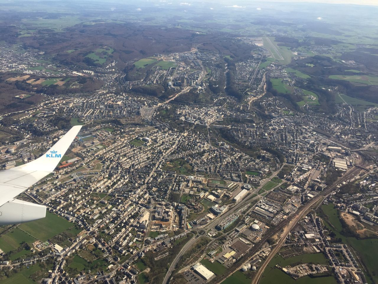 Airplane Airplaneview Airplane Shot From An Airplane Window Luxembourg Luxembourg Streetphotography Luxembourgcity From The Sky Aerial Shot Aerial View Aerial Photography Shot On IPhone IPhoneography Luxembourg city from above, taking off from Findel Findel Airport
