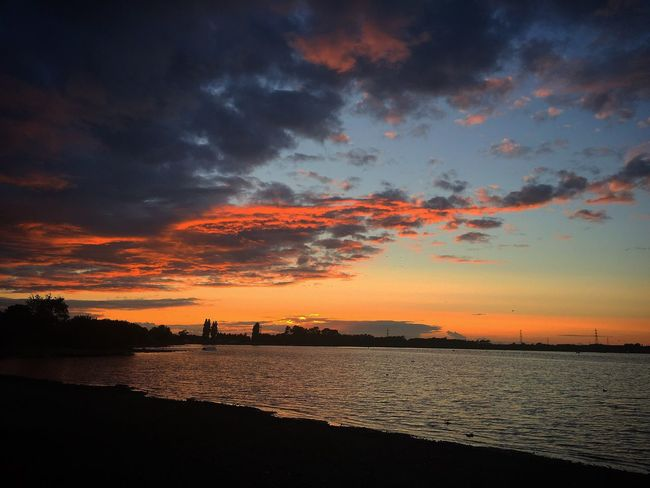 The Week On EyeEm Sunset Water Orange Color Silhouette Sky Beauty In Nature Nature Scenics Cloud - Sky Sea Tranquility Tranquil Scene No People Outdoors Horizon Over Water Waterfront Tree Lake Tranquility Beauty In Nature EyeEm Selects EyeEmNewHere Day Nature Lost In The Landscape