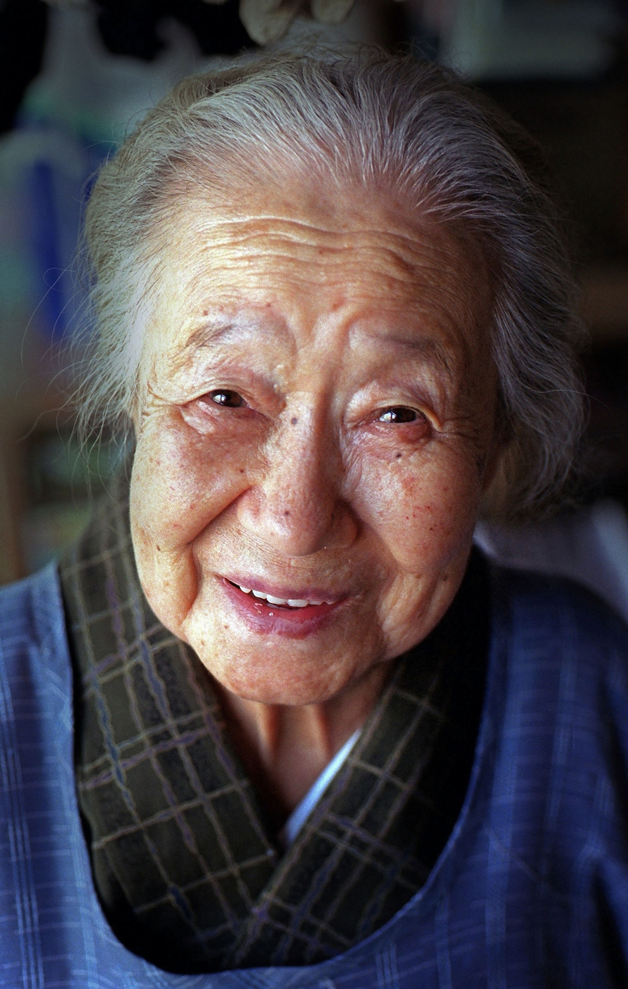 My 93-year-old grandmother taken in the early 2000's. At Peace Contemplation Elderly Front View Grandmother Great Grandmother Happy Happy People Head And Shoulders Headshot Human Face Looking At Camera Person Portrait Real People Senior Citizen  Smiling Wise Things I Like Ultimate Japan