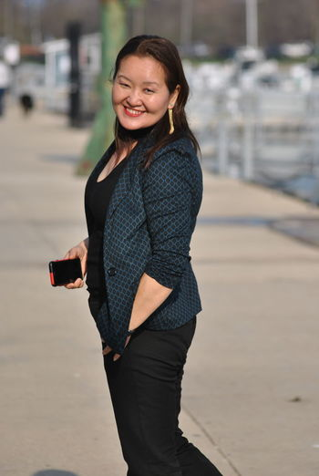 Mongolia Mongolian Girl Beautiful Woman Focus On Foreground Happiness Looking At Camera Model One Person Outdoors Portrait Real People Smiling Young Adult Young Women