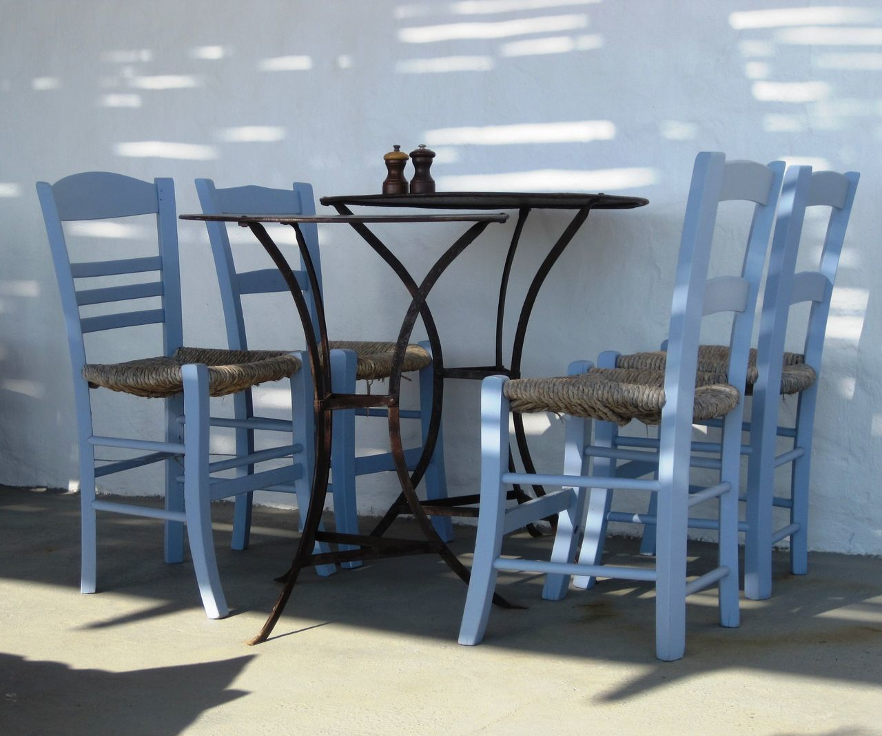 chair, table, empty, day, outdoors, seat, shadow, sunlight, furniture, beach, no people, animal themes