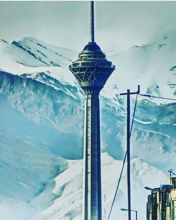 The Architect - 2017 EyeEm Awards Snow Cold Temperature Winter No People Day Outdoors Sky Nature Architecture Architecture_collection Skyscraper Milad Milad Tower Tehran Iran Tower Tall Vertigo Tourism Tourist Tourist Attraction  Symbol Symbolic
