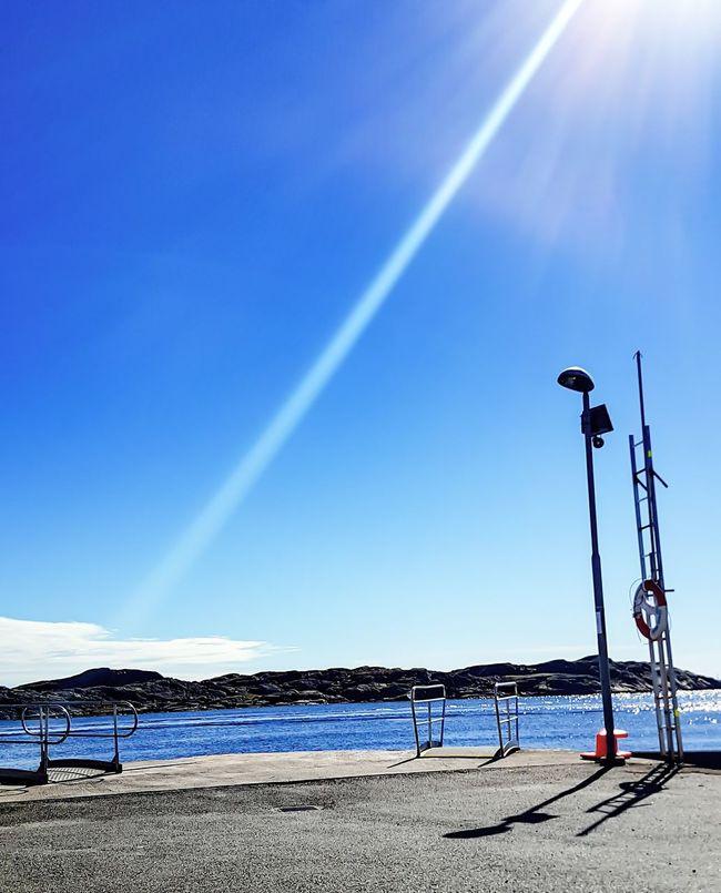 Waiting for the ferry. Sunny Day Work Köpstadsö Archepelago