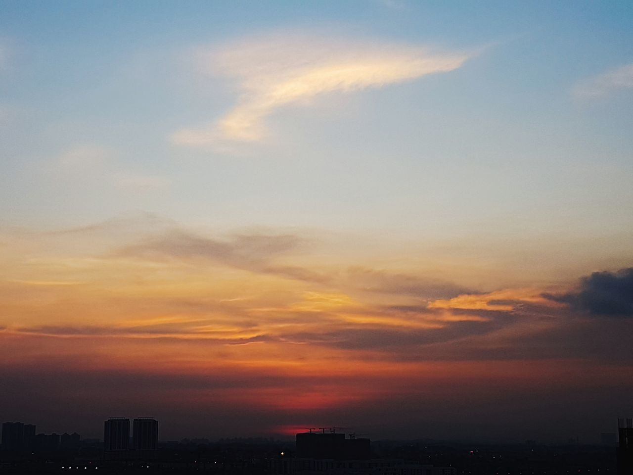 Sunset Dramatic Sky Cloud - Sky Urban Skyline Sky Cityscape City Skyscraper Travel Destinations Dusk Business Finance And Industry Architecture Scenics No People Awe Built Structure Travel Building Exterior Multi Colored Vacations Malaysia Johor Bahru