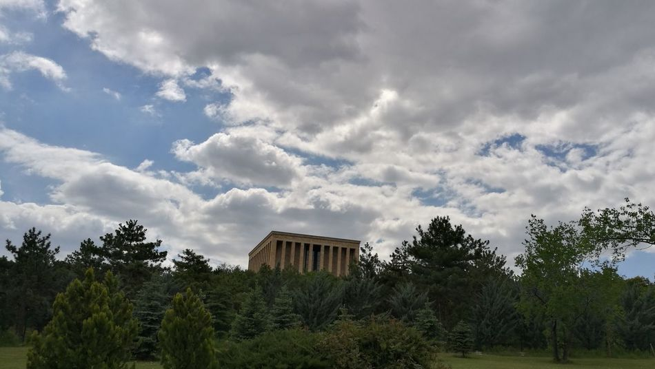 Tree Cloud - Sky Travel Destinations No People Tranquility Nature Day Outdoors Forest Landscape Sky Grass Beauty In Nature Architecture Architecture No Filter Just Photography No Filter, No Edit, Just Photography Anitkabir Ankara Anitkabir Museum Anıtkabir