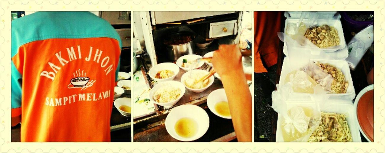 Having Lunch Bakmi Jhon