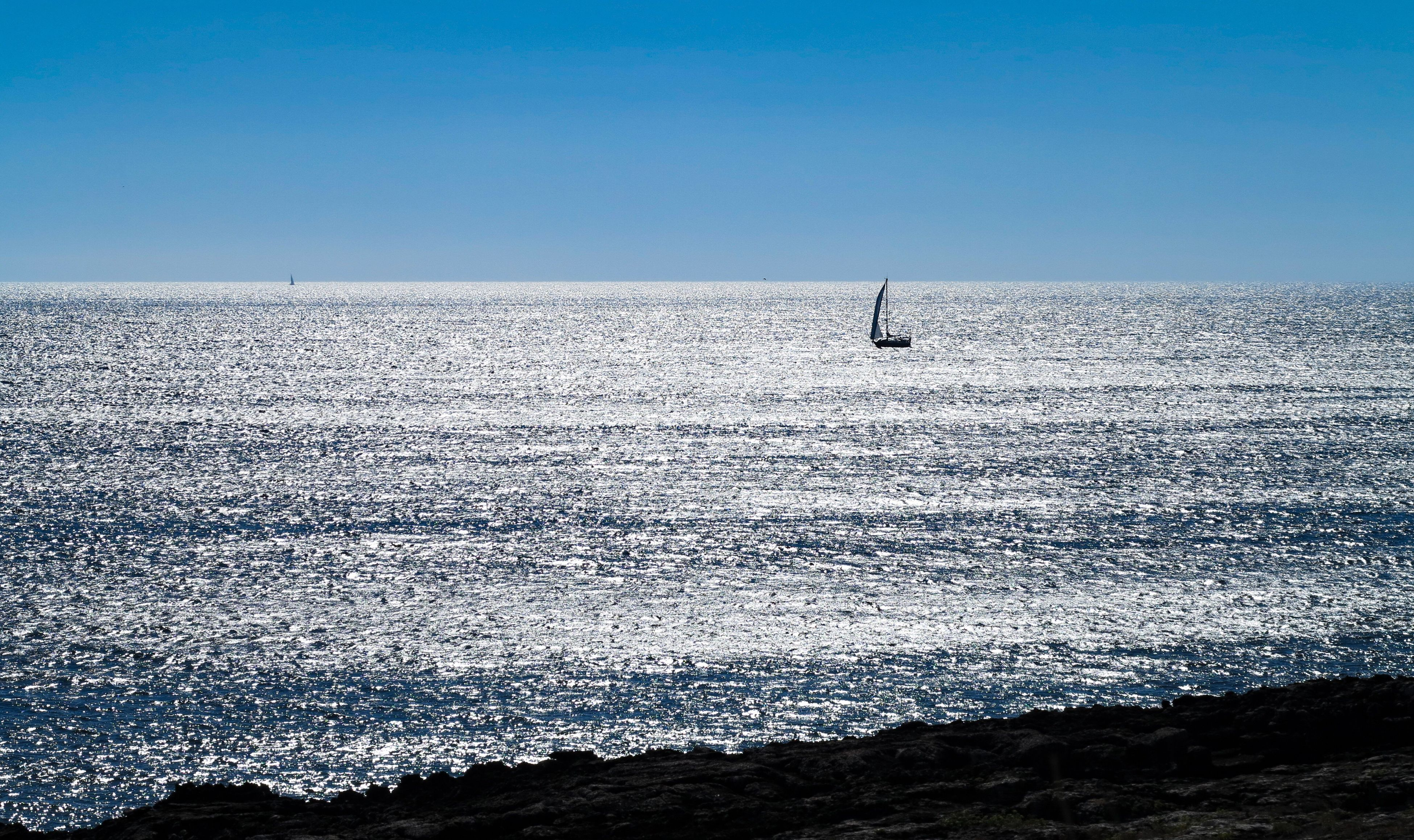 sea, nature, beauty in nature, scenics, tranquility, water, day, horizon over water, clear sky, tranquil scene, outdoors, waterfront, sky, no people, blue