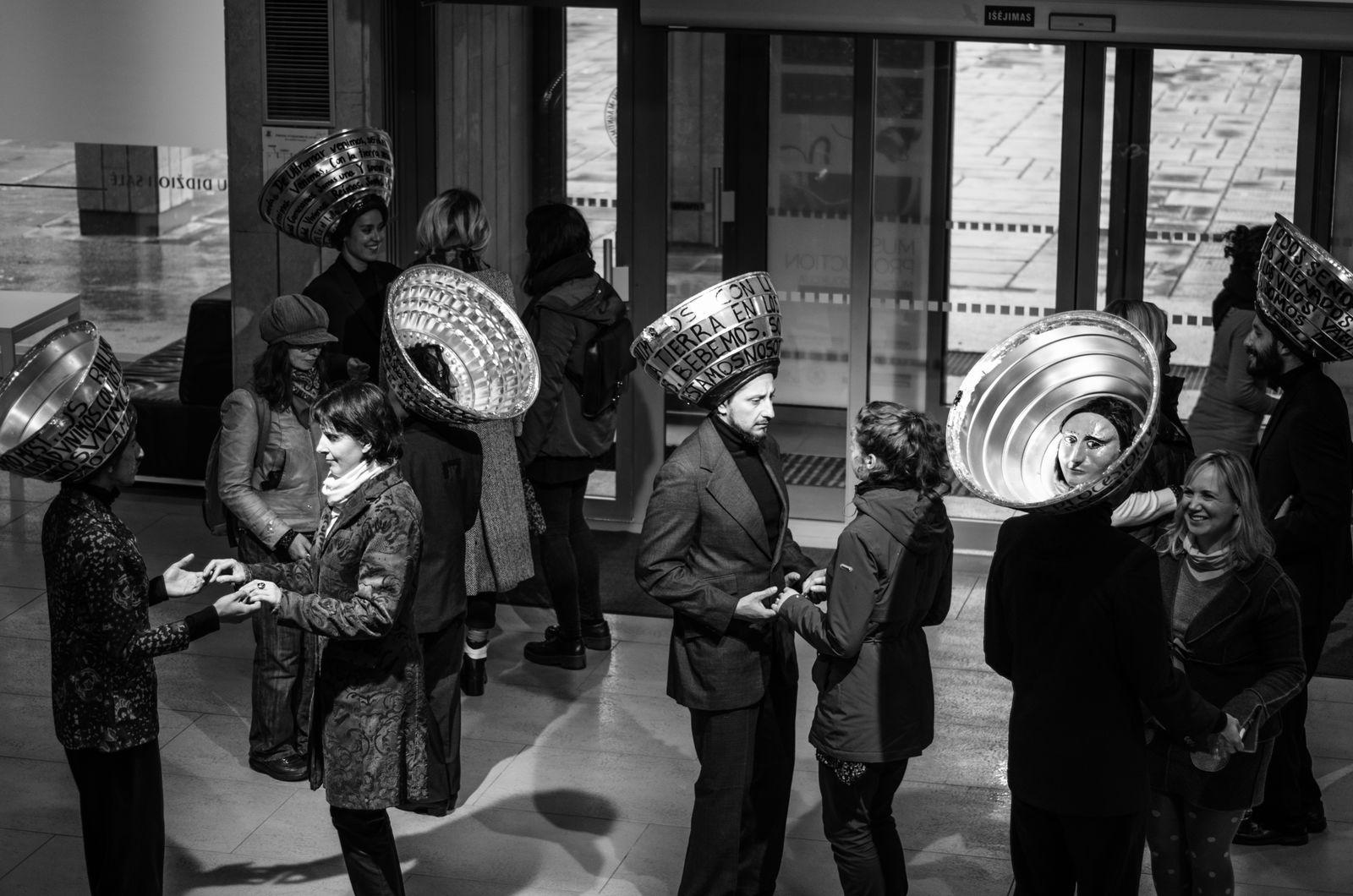 Foco Al Aire Producciones performing Los the Ultramar Dance Dark Suits Day Foco Al Aire Producciones Industrial Luminaires International Dance Festival Music People Performance Performer  Real People Walking In Procession