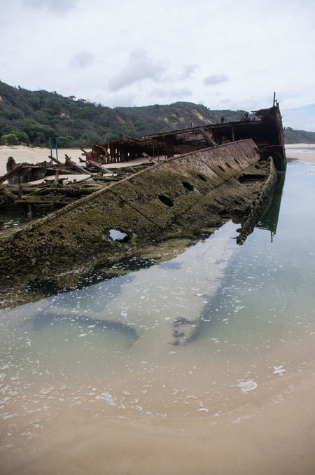 Beauty In Nature Cold Temperature Day Landscape Maheno Shipwreck Mountain Nature No People Outdoors Scenics Shipwreck Sky Tranquility Travel Destinations Water