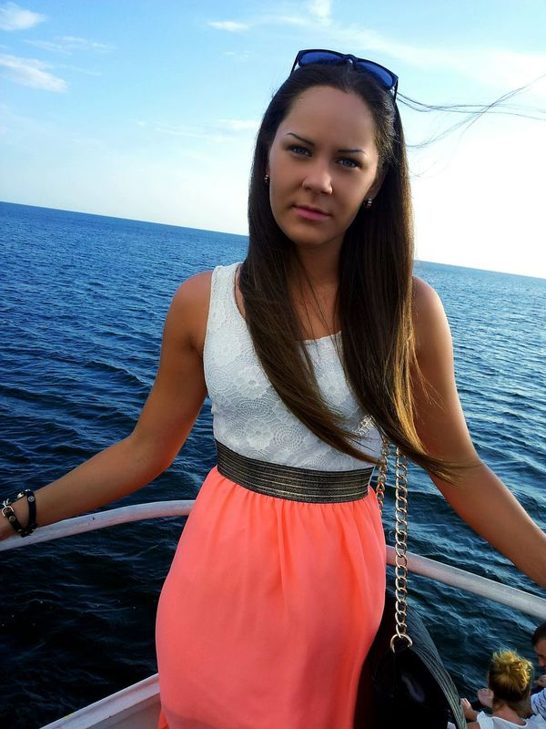 Baltic Sea Ship Water Landscape Narure Girl Starting A Trip Taking Photos 😚 😚 🚢