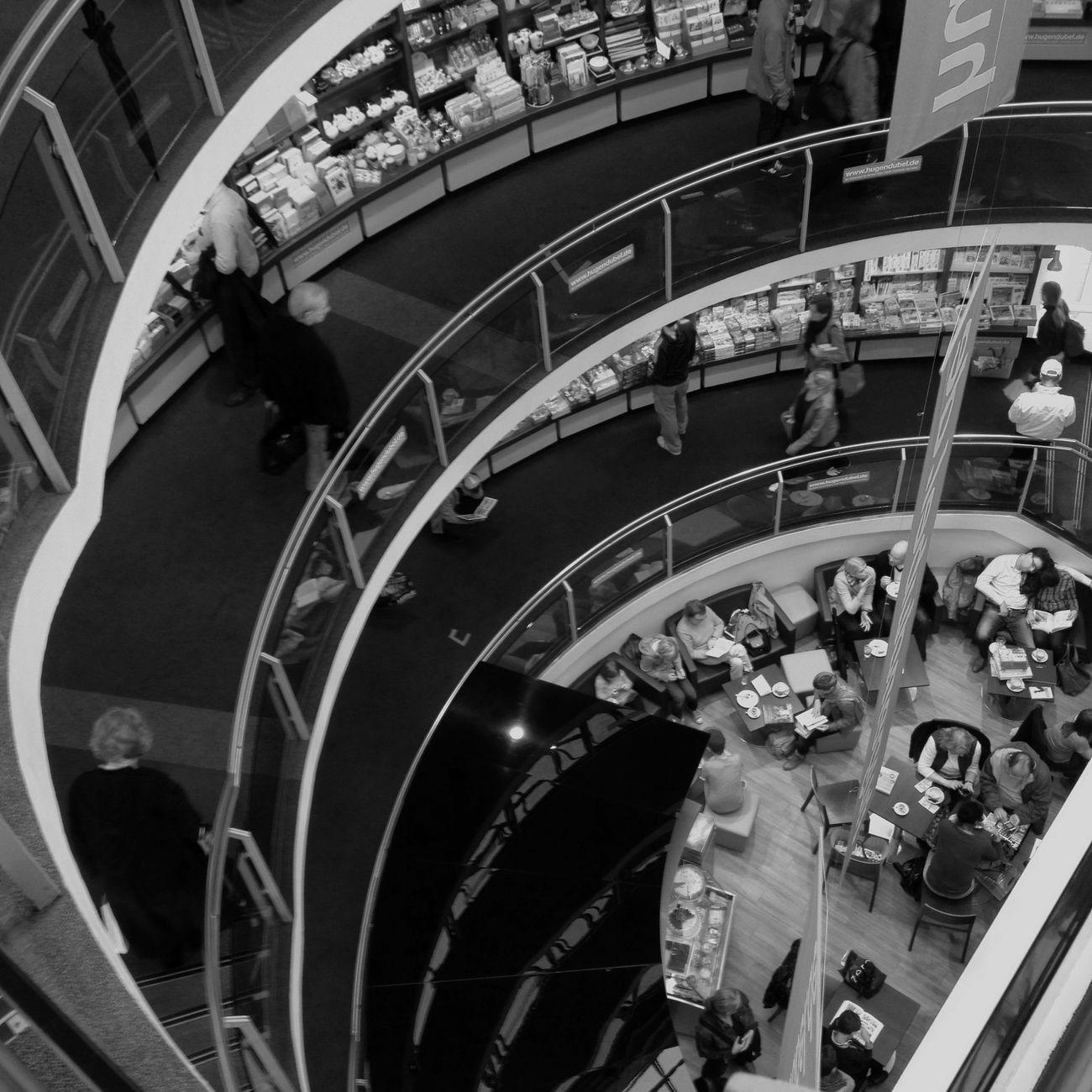 Book Store Blackandwhite