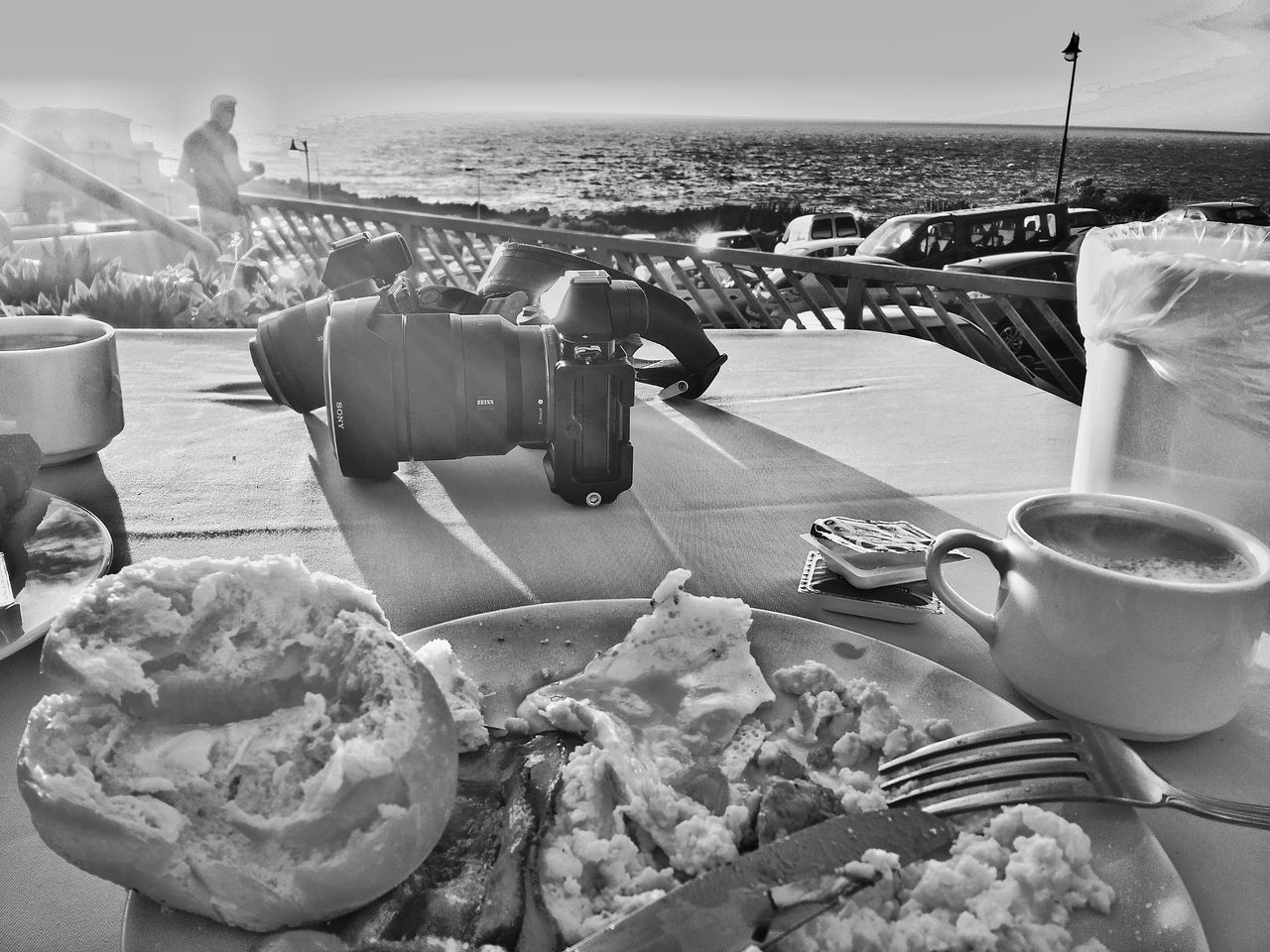 Sea Beach Horizon Over Water Water Sand Day Sky Nature Close-up breakfast Camera Outdoors Sony