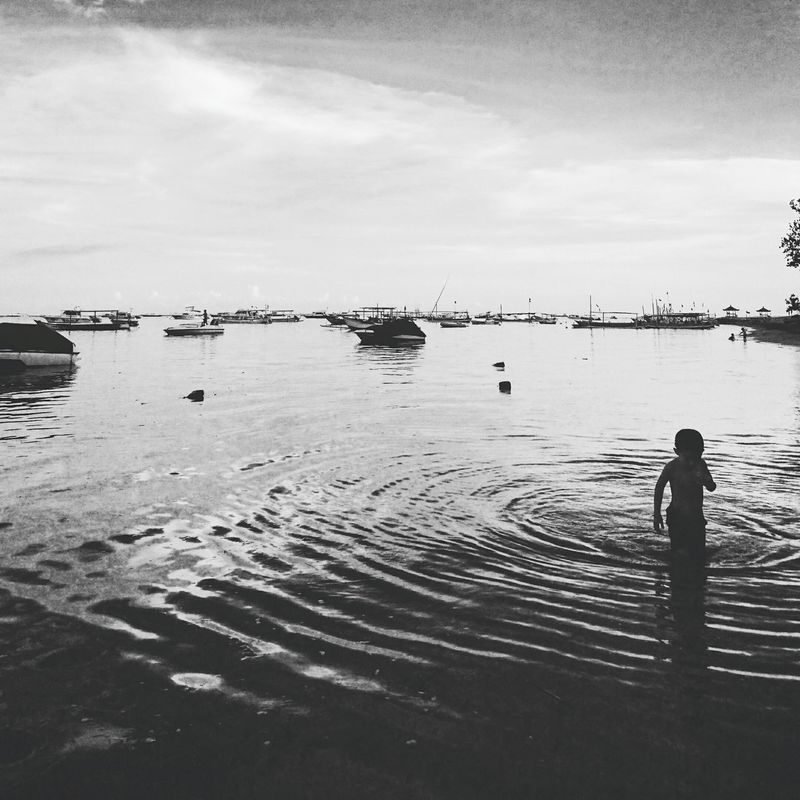 When life looks so simple yet ... . Showing Imperfection Blackandwhite Photography Children Ocean Tranquility Travel Photography Jocydumonde