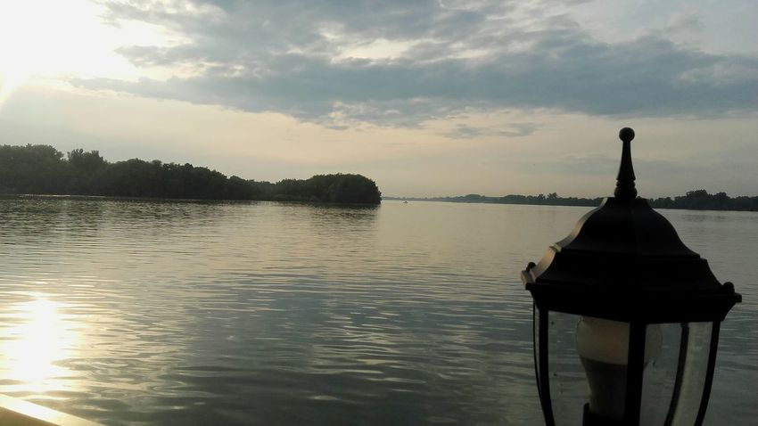 Water Belgrade Sky Sunset Outdoors Day Lamp Serbia Dunav Danube Sunlight River Trees Beautiful Relaxing Beograd No People Contrast Reflection Enjoying Life Calm Water Sky And Couds Horizon Over Water Likeforlike Like4like