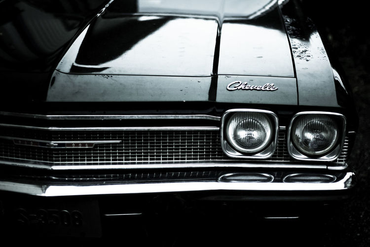 Chevelle Car Cheve Classic Car Headlight Metal No People Old-fashioned Shiny Transportation