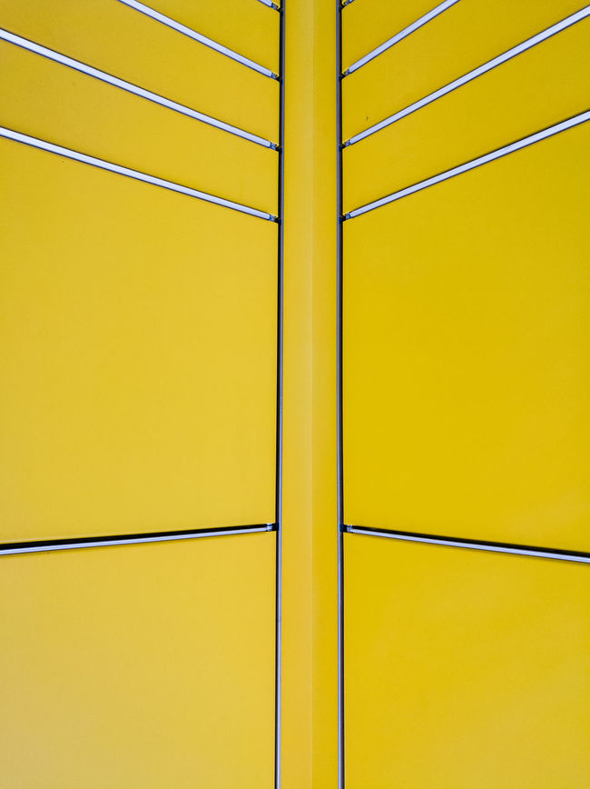 Yellowmellow Abstract Architecture Cityexplorer Close-up Exterior Design From My Point Of View Geometric Abstraction Geometric Shape HuaweiP9 Lines Lines And Shapes Minimal Minimalism Minimalist Minimalistic Minimalobsession No People Simplicity Surfaces And Textures Symmetrical Yellow Yellow Color