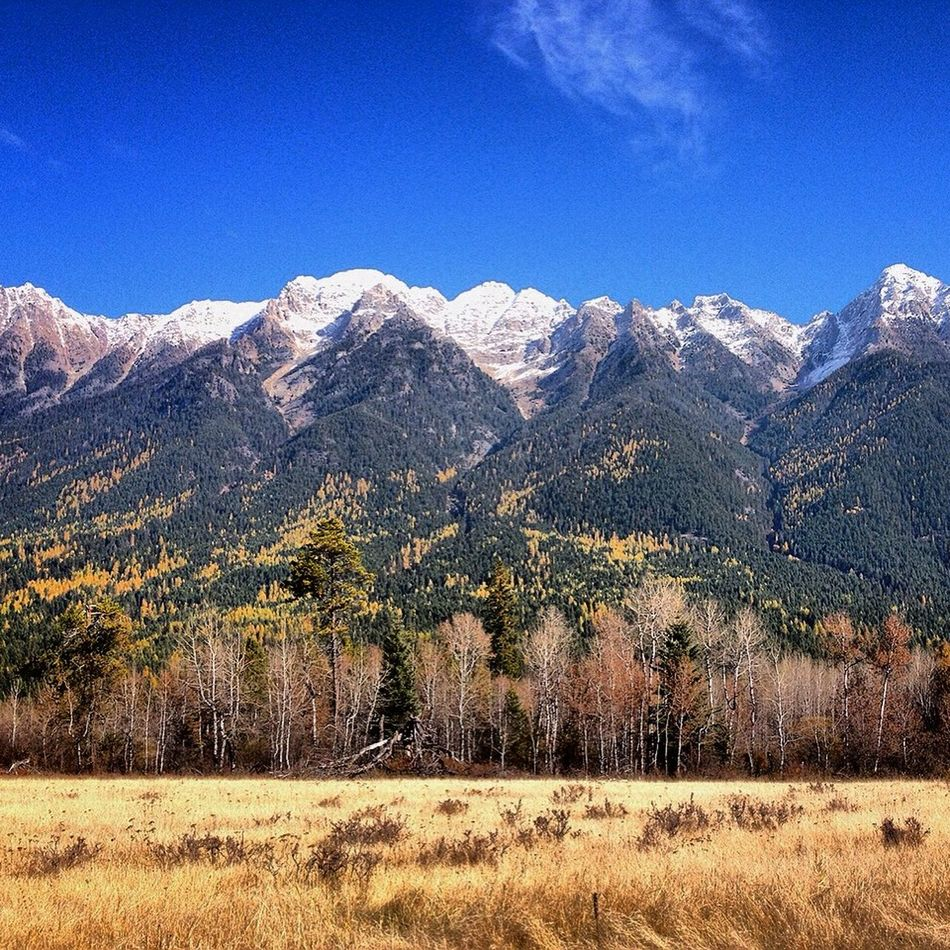Blue Sky British Columbia Mountains Mountains And Sky Mountains And Valleys Snow Capped Mountains