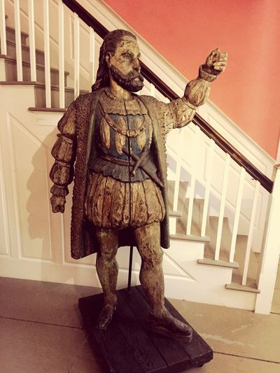 Statue Sculpture Indoors  Day One Person People Cigar Culture Christopher Columbus Cigar Advertising