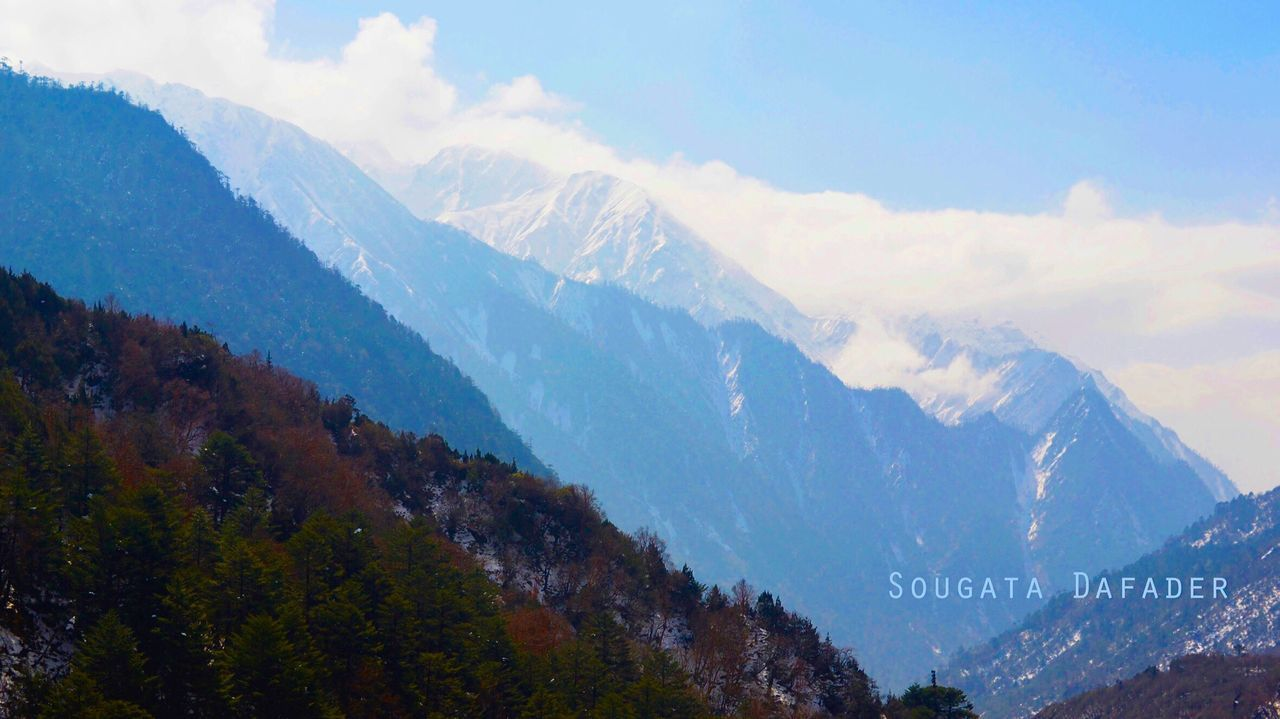 Mountain Sky Nature Mountain Range Beauty In Nature No People Cloud - Sky Outdoors Scenics Day Beauty In Nature Sikkim Nature Winter Snow Cloud Trapped