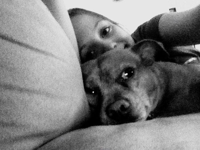 Me and my doggie Dog Selfie