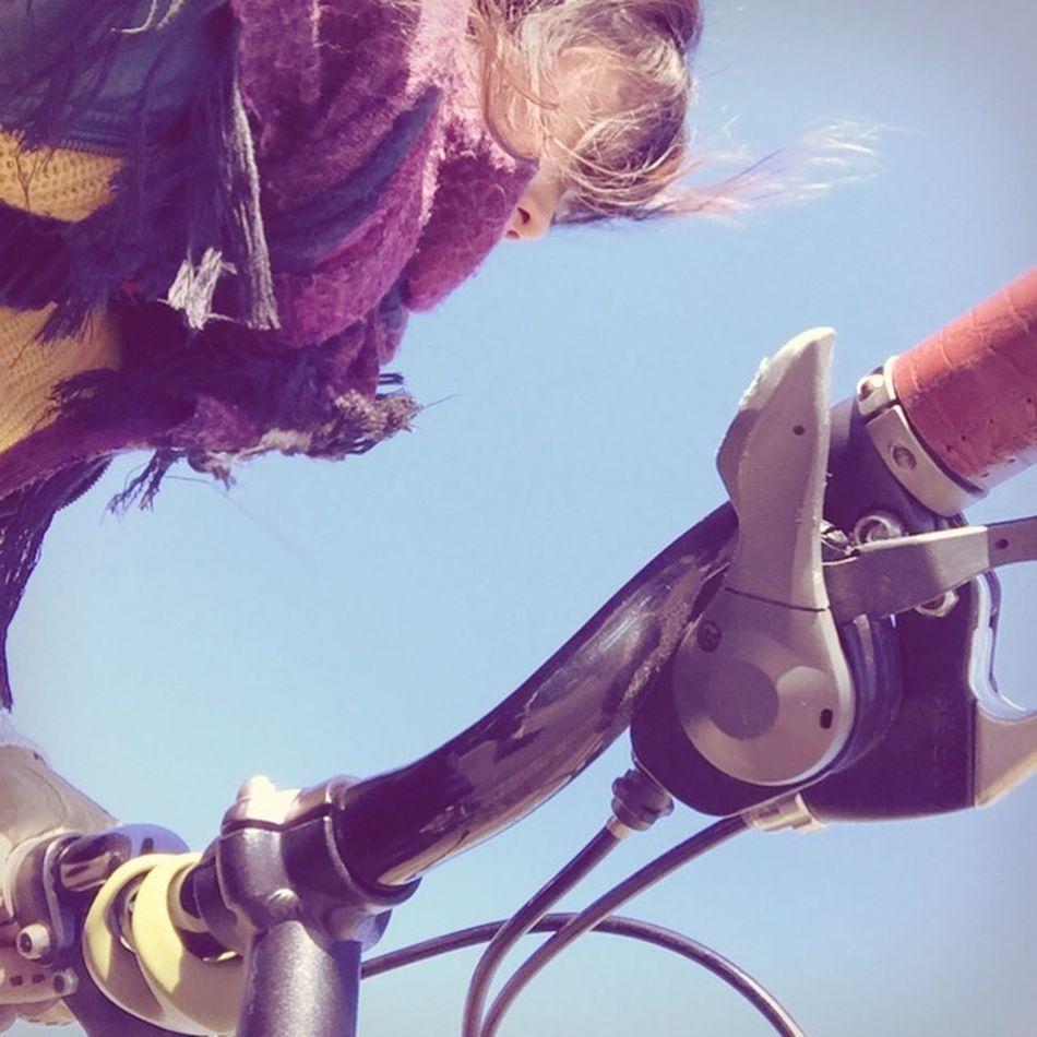 Holiday POV Happy :) Bycicle Oribike Girl