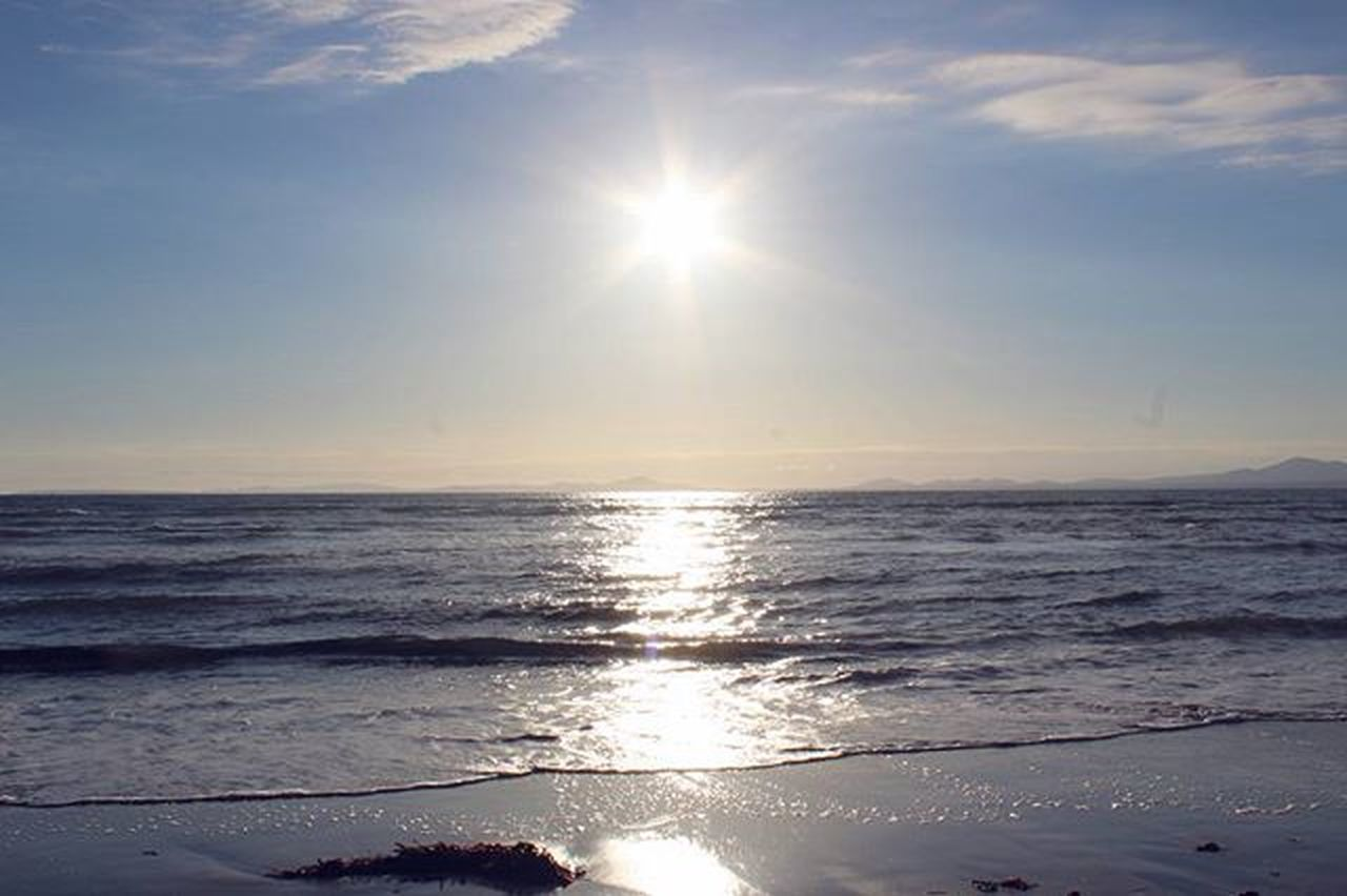 Reflections on the sea Photo Photography Wales Northwales Sunset Reflection Sea Harlech Sky Clouds Sun Seaweed Waves Water Sand Beach Camera DSLR Canon Eos1200d CanonEos1200D