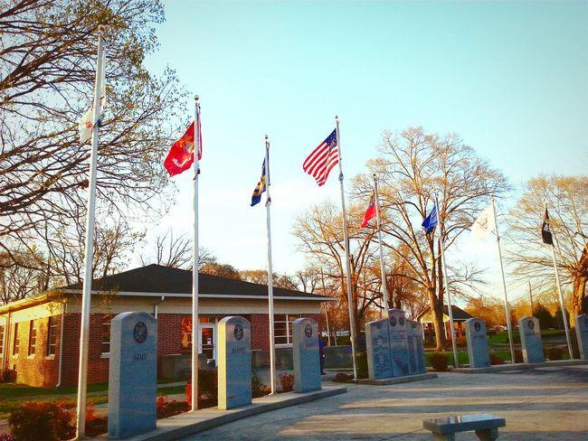 Soldier Memorial War Memorial USMC Army Navy Air Force Coast Guard POW MIA Georgia Proud to be an American.