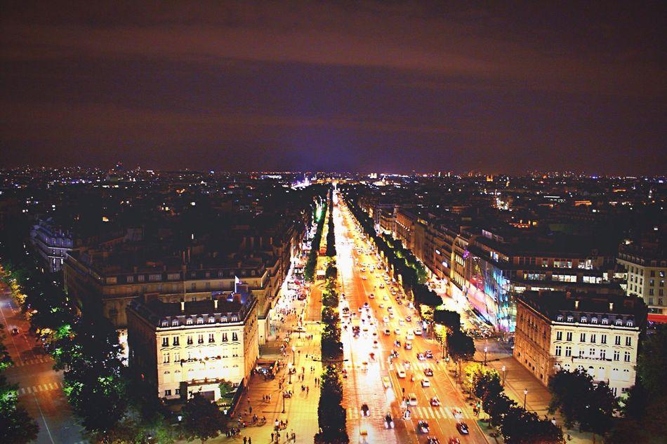 Paris, France  Paris Night Lights Cityscape Champselysées The Color Of Technology Battle Of The Cities Overnight Success
