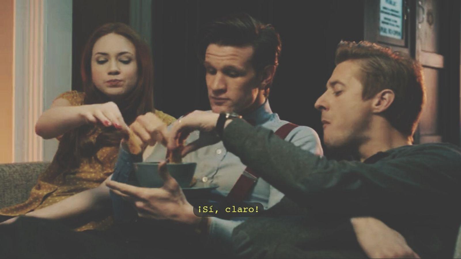 Esto duele demasiado. Doctor Who Eleventh Doctor Amy Pond Rory Williams