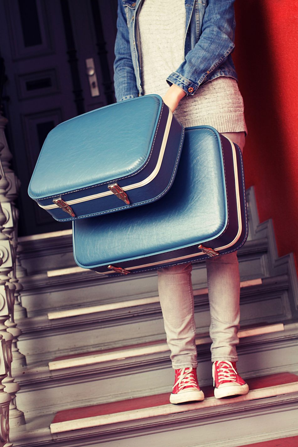 When kids are not kids anymore and go their own ways... Blue Casual Clothing Leaving Leaving Home Luggage Move Out One Person People Real People Stairs Stairwell Standing Suitcase Suitcases Travel Traveling Travelling Young Adult Young Woman Youth