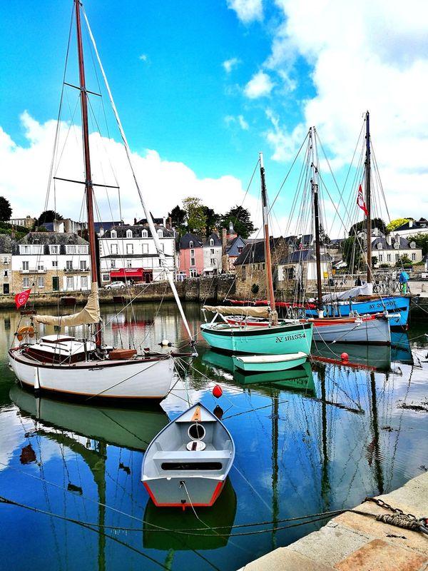 Yachting Boats, Dock Harbour port Cloud - Sky Water Reflection Harbour Life port Saint-Goustan Auray Morbihan Bretagne-Sud Bretagne France🇫🇷 HuaweiP9Photography