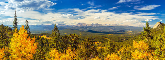 Autumn Autumn Colors Beauty In Nature Cloud - Sky Colorado Fall Fall Colors Golden Gate Canyon Golden Gate Canyon State Park Hiking Landscape Mountain Mountain Range No People Non-urban Scene Outdoors Scenics September Sky The Great Outdoors - 2016 EyeEm Awards Fine Art Photography