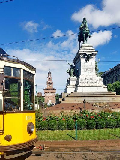 Paint The Town Yellow Yellow City Milan,Italy Castello Sforzesco Tram Done That.