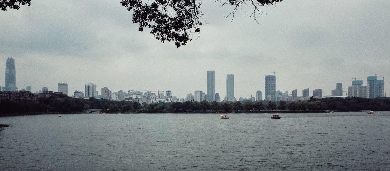 Architecture Boat Changsha China City Cloudy Development Leisure Panarama Park Water