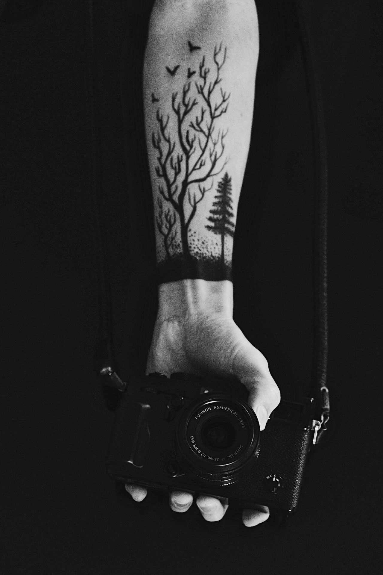 One Person Human Hand Holding Indoors  Camera - Photographic Equipment Technology Human Body Part Close-up Adult People Adults Only Day Paint Bodypaint Art Blackandwhite Monochrome Monochrome Photography Blackandwhite Photography