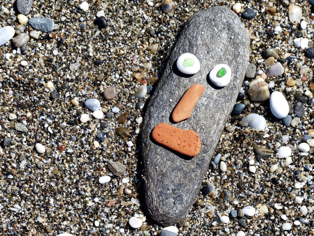 Stone - Object Beach Funny Faces EyeEmNewHere