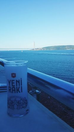 Istanbul Water Clear Sky Railing Blue Sea Freshness Day No People Modern