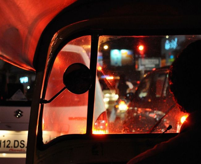 India Redlight Shadow Cars Traffic Speed Life TukTuk Transportation Window Vehicle Interior Trafficjam Night Night Lights Night Photography Car Point Of View Transparent Nikon The Color Of Technology
